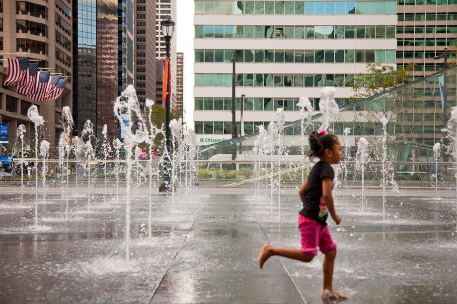 rendering of the new dilworth park in Philadelphia