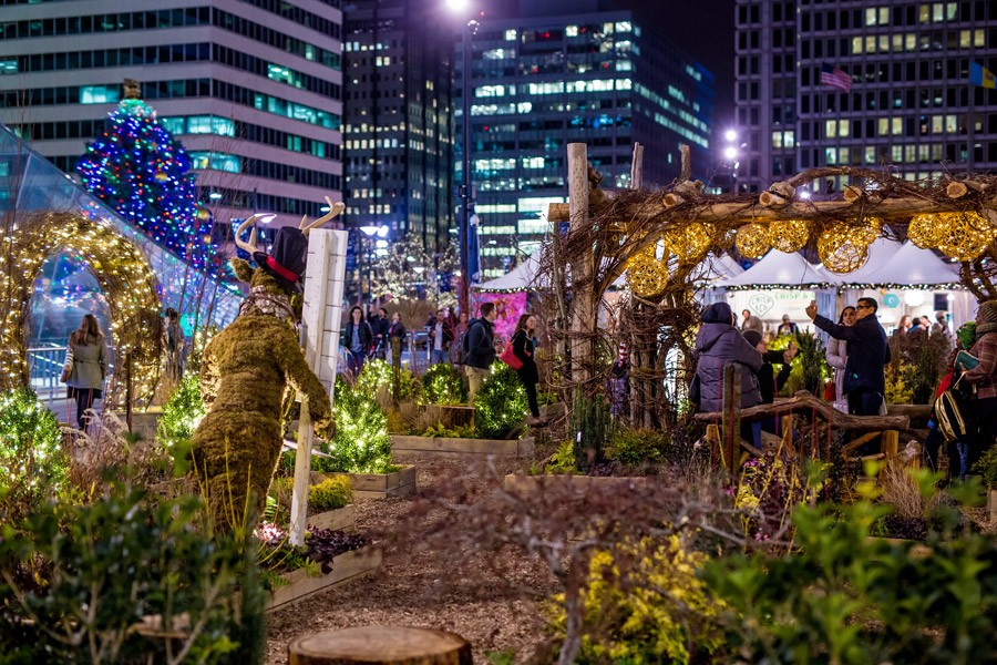 The America's Garden Capital Maze at Dilworth Park