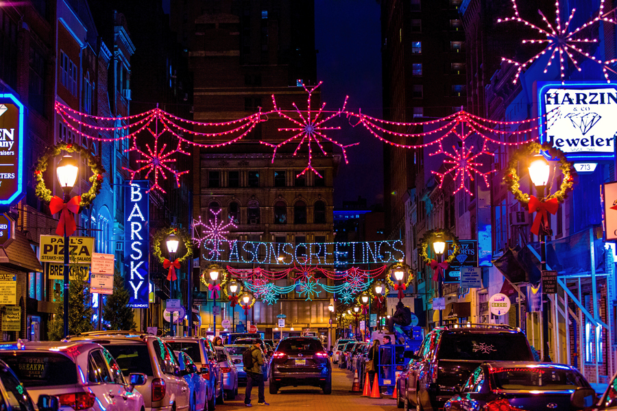 jewelers row - Holiday Christmas Lights