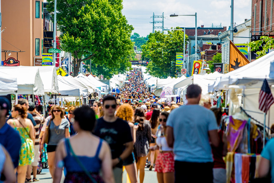 Crowds pack Main Street for the Manayunk StrEAT food festival