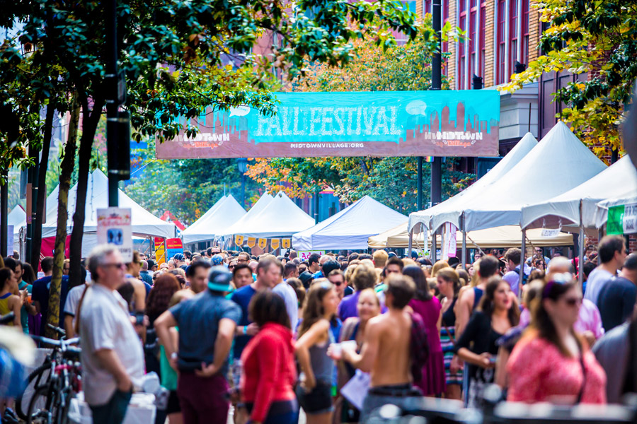The Midtown Village Fall Festival is one of Philly's most popular events.
