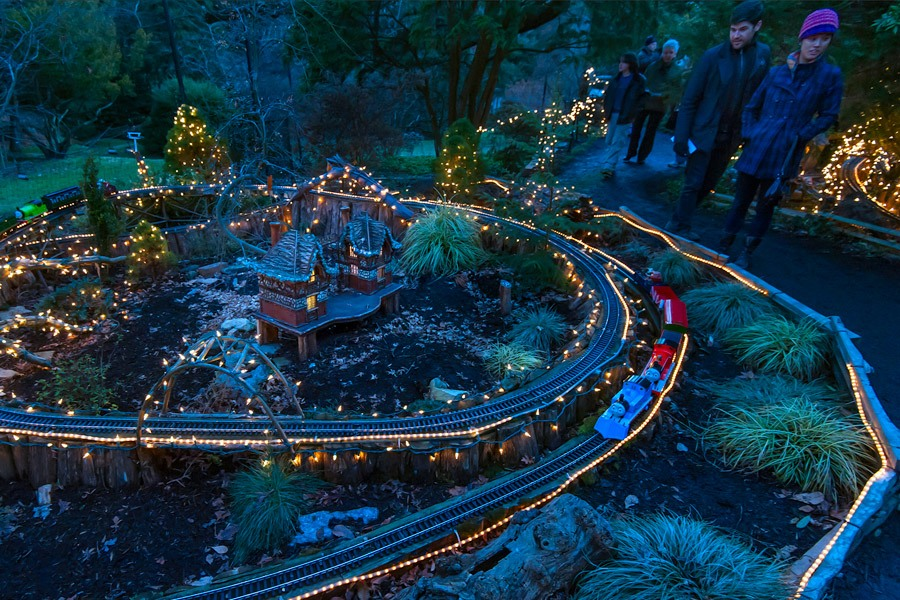 Holiday Garden Railway at Morris Arboretum