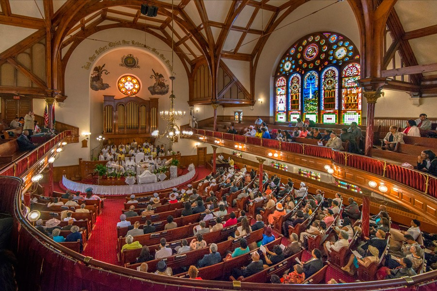 Congregation at Mother Bethel AME Church