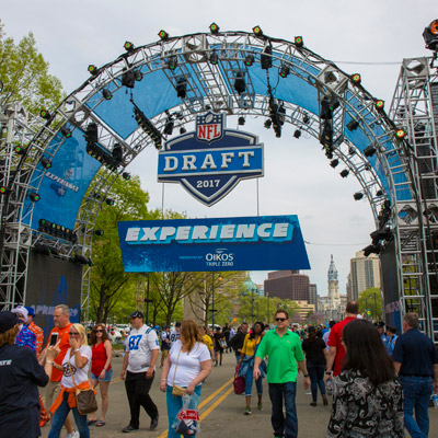 entrance to nfl draft experience