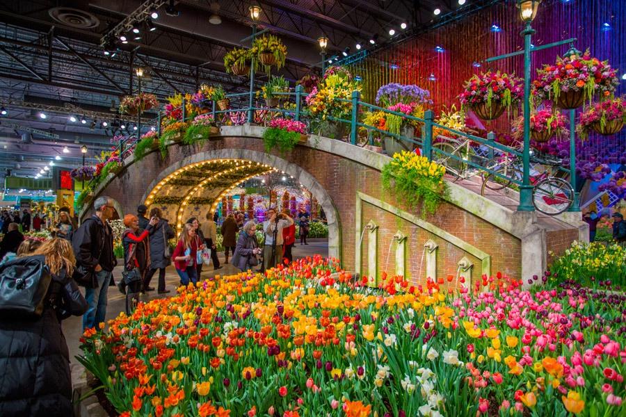 The Philadelphia Flower Show in 2017