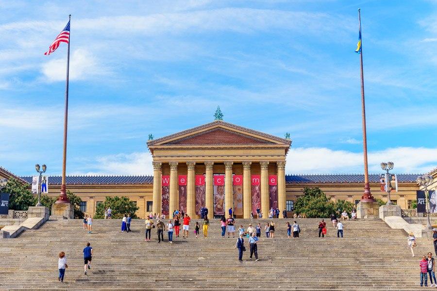 exterior of the Philadelphia museum of art in philadelphia