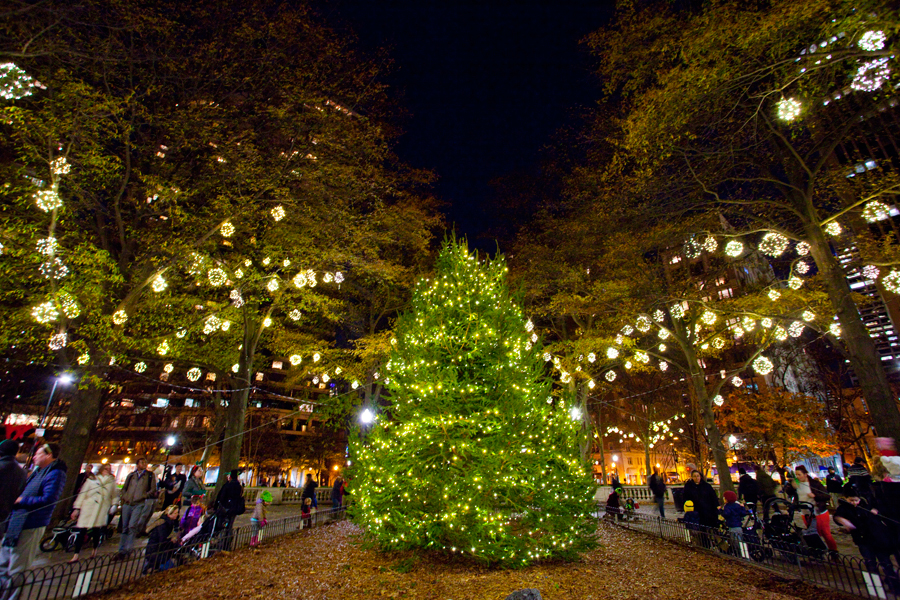 christmas tree lighting in rittenhouse square - Old Fashioned Christmas Tree Lights