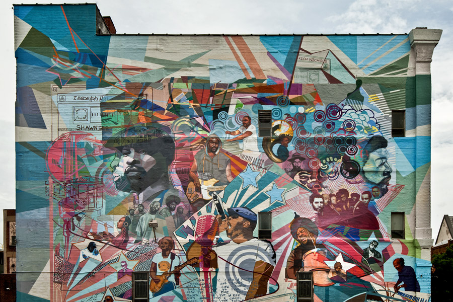 Where to celebrate black history month in philadelphia in for Mural tour philadelphia map