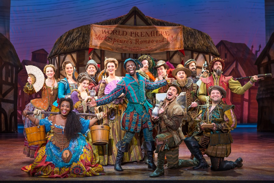 A production of Something Rotten!