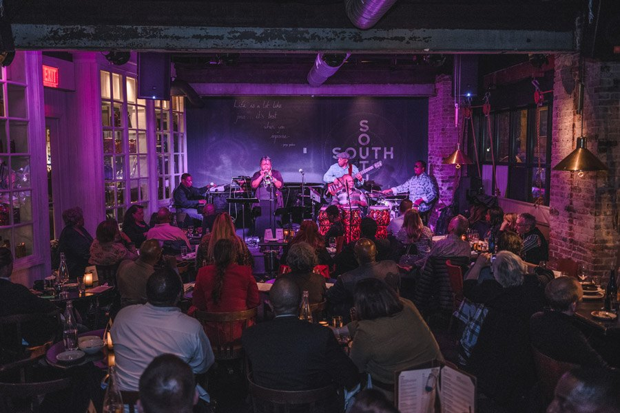 A jazz performance at SOUTH Kitchen and Jazz Bar
