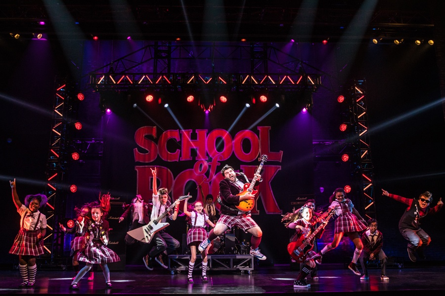 A Broadway production of School of Rock