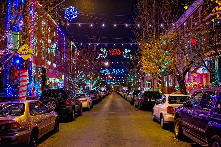 Holiday Lights in South Philadelphia