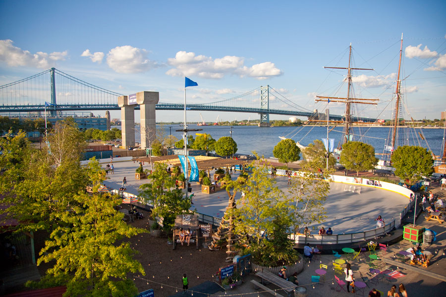 blue cross riverrink summerfest aerial