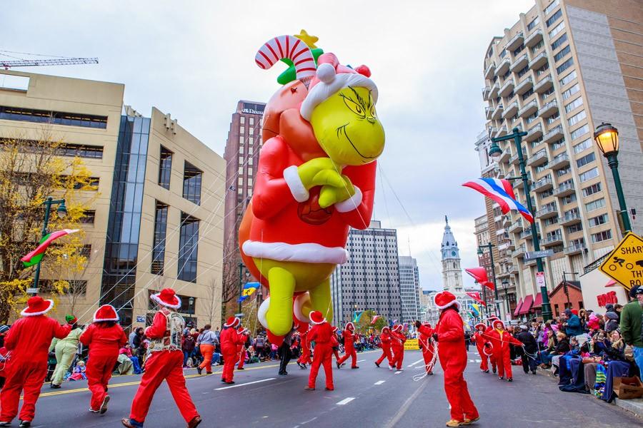 Philadelphia's annual Thanksgiving Day Parade along the Benjamin Franklin Parkway