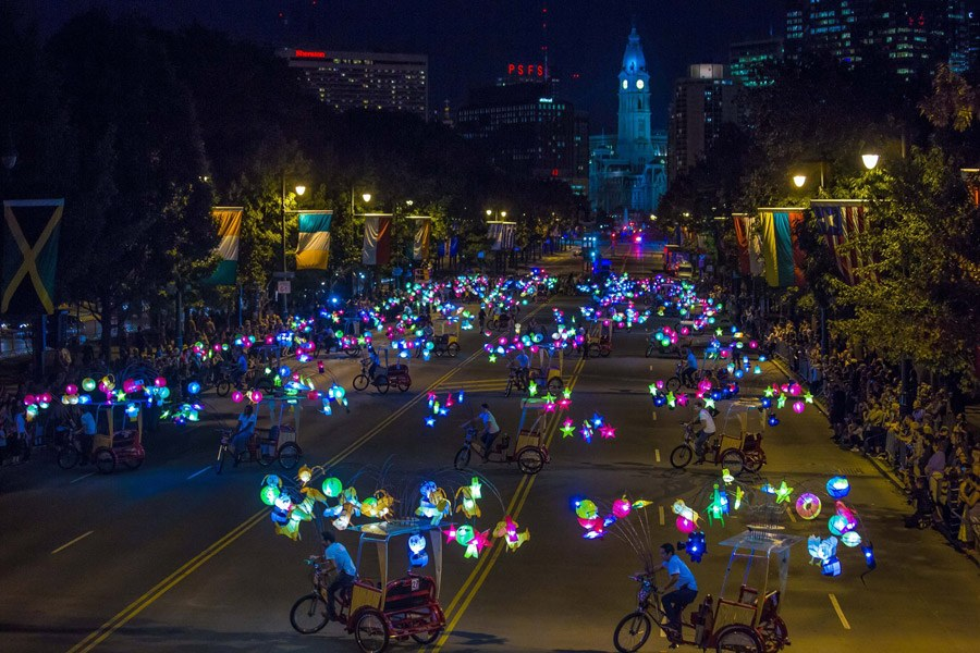 Take a ride down the Benjamin Franklin Parkway in a beautifully designed pedicab