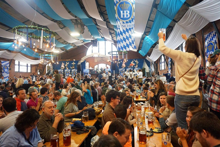 Brauhaus Schmitz hosts its annual Oktoberfest at the 23rd Street Armory.