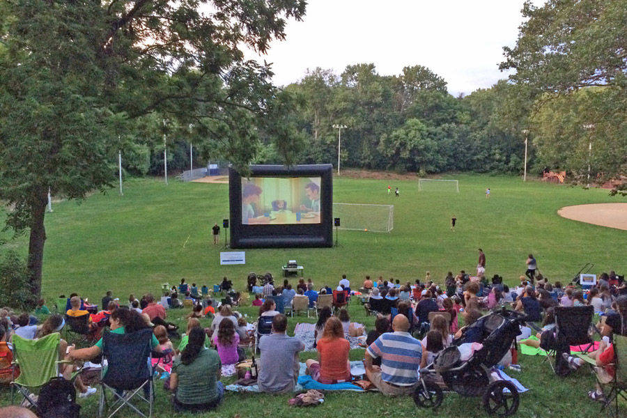 movies under the stars in chestnut hill