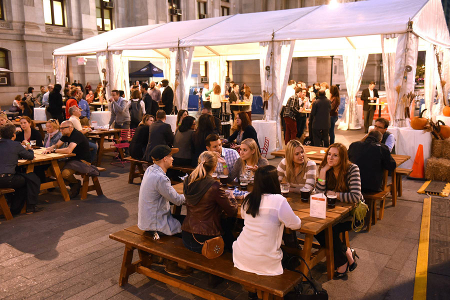 Octoberfest at Dilworth Park means fun activities and great beer.