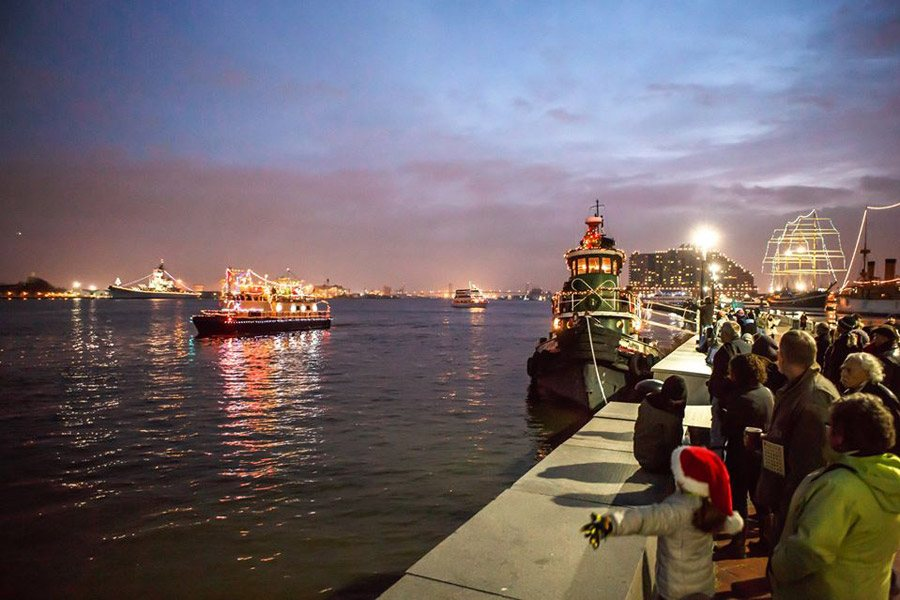 Parade of Lights at the Independence Seaport Museum