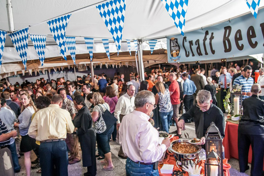 The King of Prussia Mall parking lot becomes a huge beer festival.