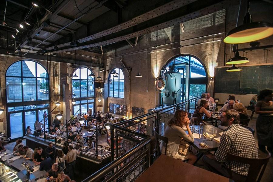 dining room at la peg in philadelphia