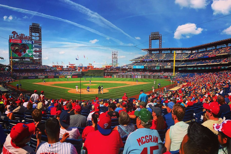 A Phillies game at Citizen's Bank Park.