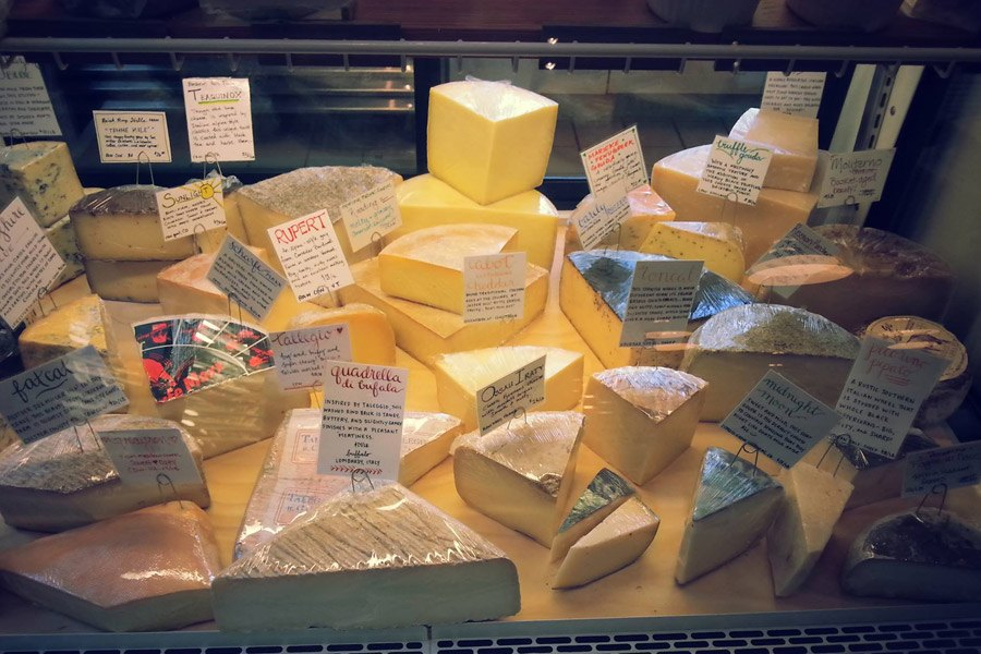 Cheese case at Talula's Daily