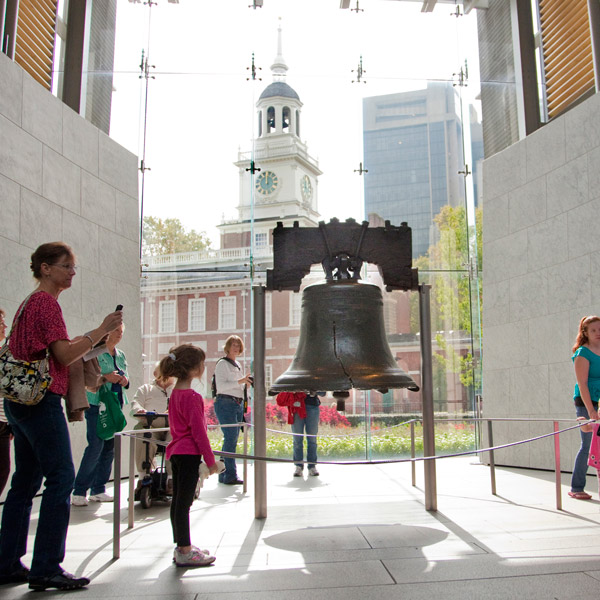 The Liberty Bell and Independence Hall
