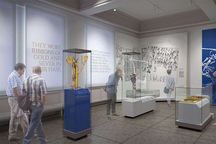 Rendering of the Penn Museum Middle East Galleries