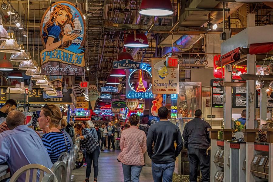 Aisle of Reading Terminal Market