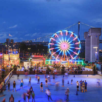 blue cross riverrink summerfest and the midway in philadelphia