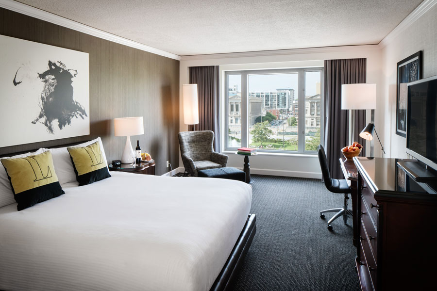hotel room at the logan in philadelphia