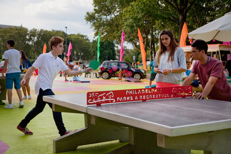 Table tennis at The Oval (Photo by M. Fischetti for Visit Philadelphia)