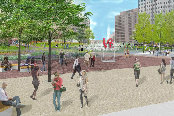 rendering of love park